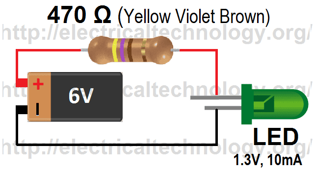 how to calculate the value of resistor for led