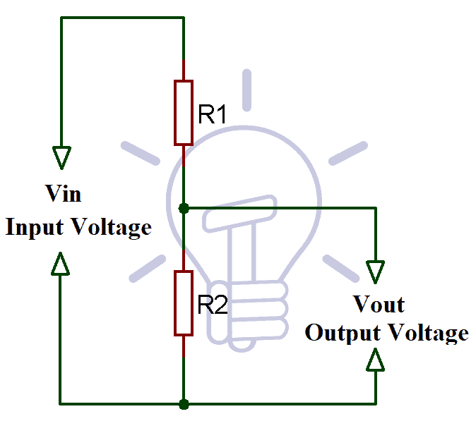 equivalent circuit of voltage divider