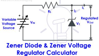 Zener Diode & Zener Voltage Regulator Calculator