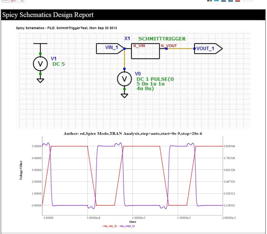 Electrical Circuit schematic free online tools