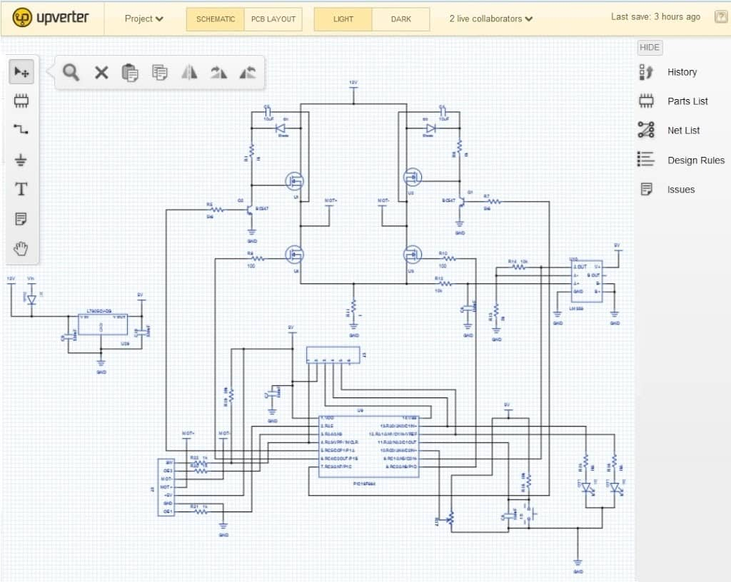 Online PCB Design and circuit simulation tools
