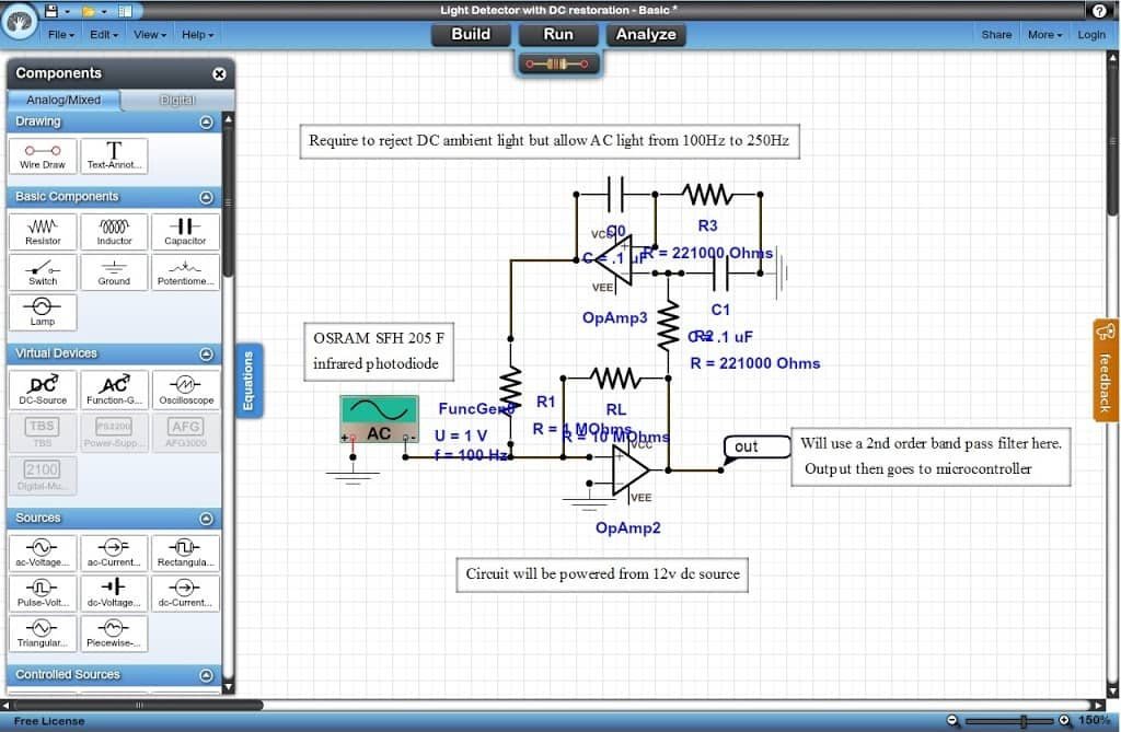 DOCircuit online electrical simulation tool
