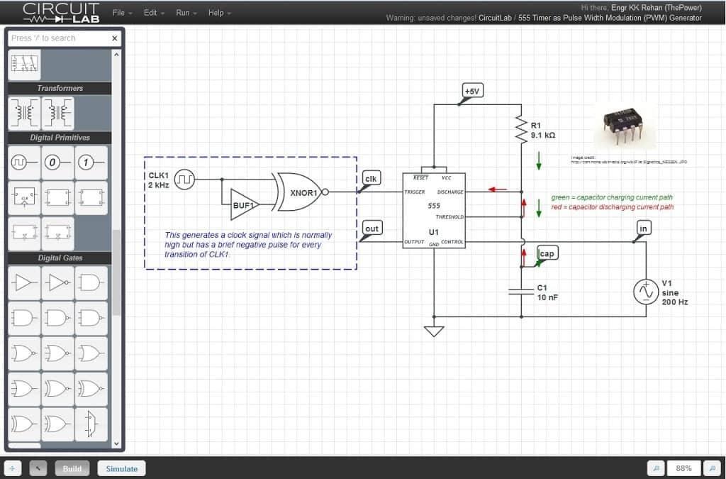 Online electrical simulation tools