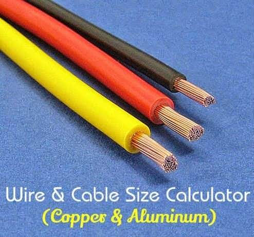Electrical Wire & Cable Size Calculator (Copper & Aluminum)
