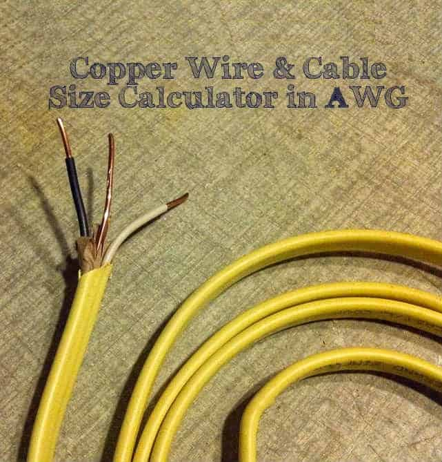 Wire Cable Size Calculator AWG