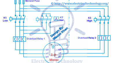 Photo of 2 Speeds 1 Direction 3 Phase Motor Power and Control Diagrams