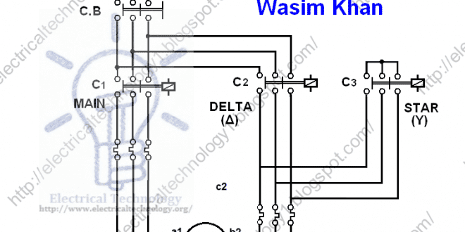 three phase motor connection star delta without timer power rh electricaltechnology org wiring diagram star delta connection motor wiring diagram star delta motor