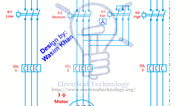 Photo of Multi Speed 3-Phase Motor, 3 Speeds, 1 Direction, Power & Control Diagrams