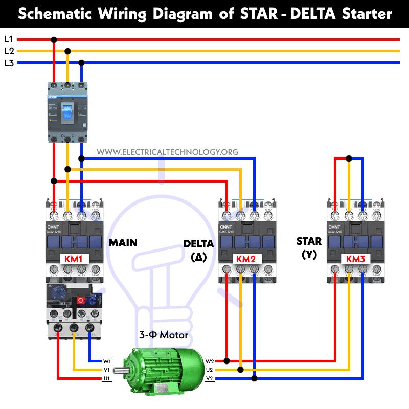 Star - Delta Starter Wiring Diagram