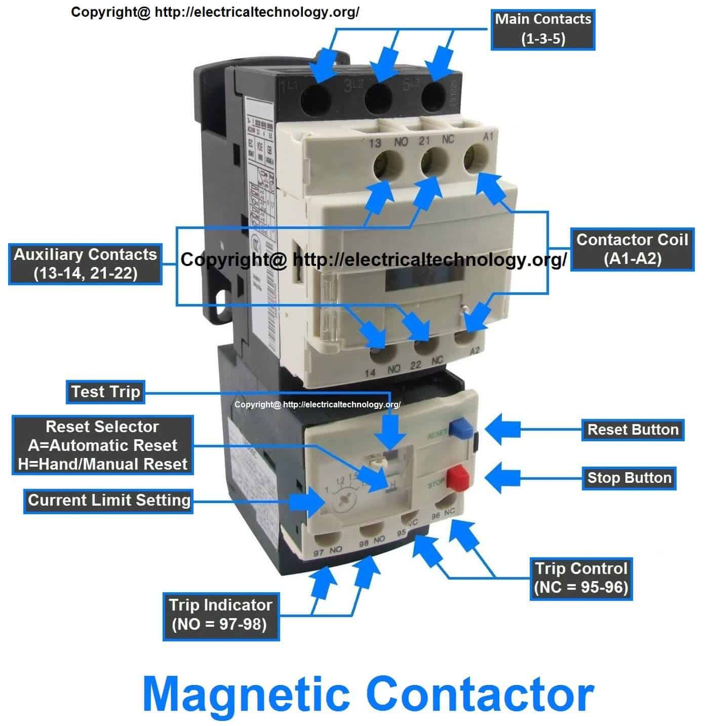 Contactor Relay Wiring Unlimited Access To Diagram Electrical Pdf What Is Magnetic Contactors Rh Electricaltechnology Org Ac Circuit