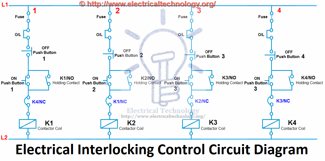 click image to enlarge Electrical Interlocking control circuit diagram