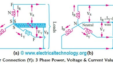 Photo of Star Connection (Y): Three Phase Power, Voltage & Current Values