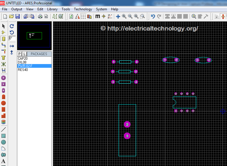PCB Designing In Ares Capture Proteus: