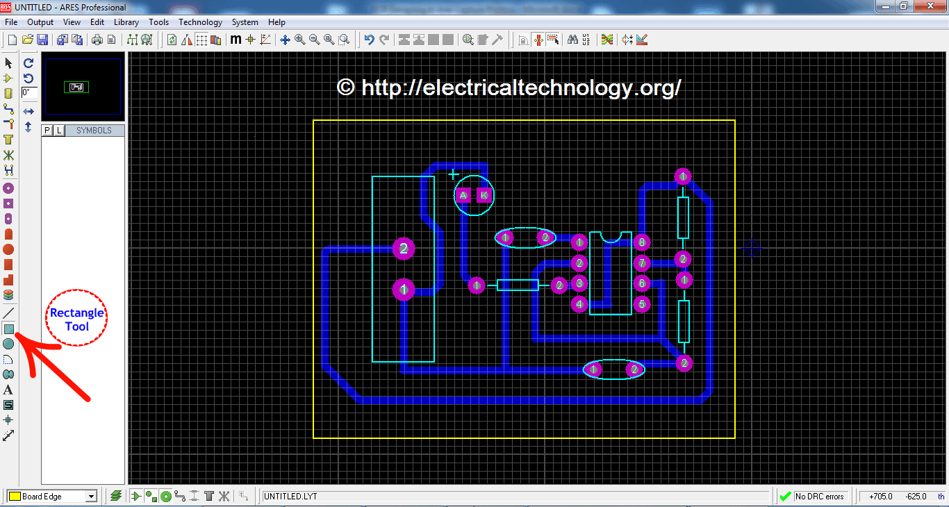 Pcb Designing How To Design A Step By Led Printed Circuit Board Pictorial View Flasher