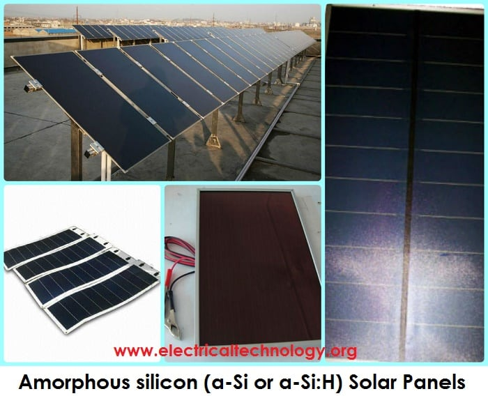 Amorphous silicon (a-Si or a-Si:H) Solar Cells and PV Modules