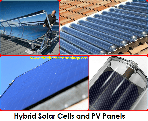 Hybrid Solar Cells and PV Panels