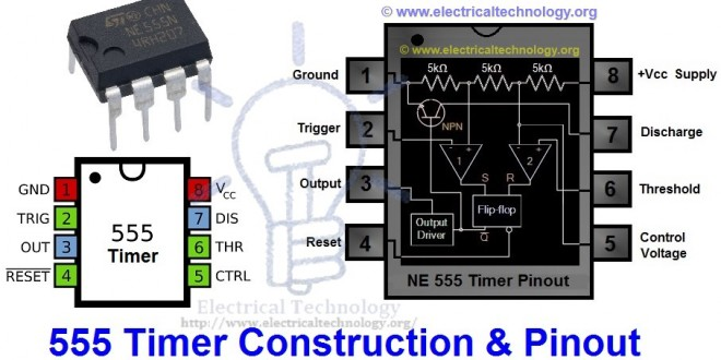555 Timer Ic  Types  Construction  Working  U0026 Applications