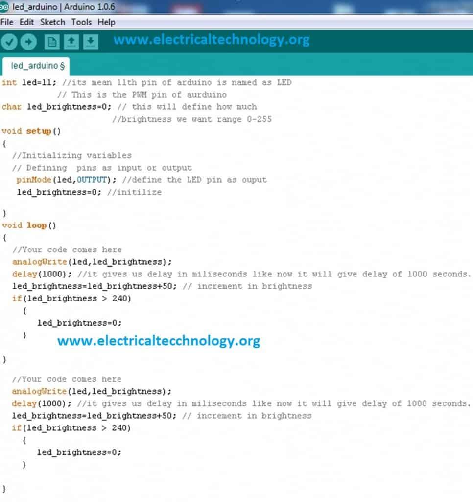 Arduino - AnalogWrite - Altervista
