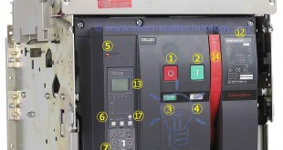 Delixi Air Circuit Breaker External labels (Rated Current and Voltage = 1kA, 415V)