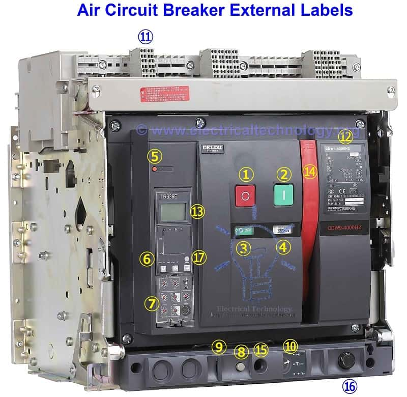 Delixi Air Circuit Breaker External labels Rated Current and Voltage 1kA 415V air circuit breaker construction, operation, types and uses acb panel wiring diagram at bakdesigns.co