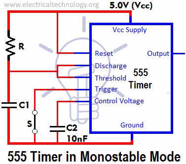 555 Timer in Monostable Mode