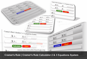 Cramer's Rule | Cramer's Rule Calculator 2 & 3 Equations System