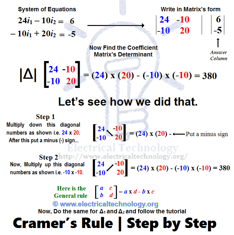 Cramer's Rule | Cramer's Rule Calculator 2 & 3 Equations