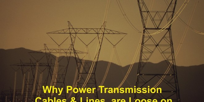 Why Power Transmission Lines Are Loose On Electric Poles