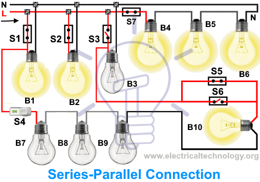 [SCHEMATICS_49CH]  Introduction to Series, Parallel and Series-Parallel Connections | Ac Parallel Wiring Light |  | Electrical Technology