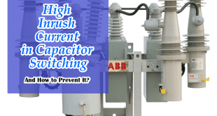 Step to removing High Inrush Current in Capacitor Switching