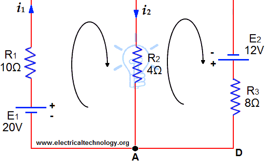 Circuit Analysis by Kirchhoff's Laws Solved Example on KCL and KVL (Kirchhoff's Laws)