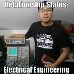 Funny Electrical Engineering student relationship status