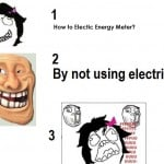 How to stop electric energy meter.. Funny electrical