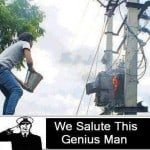 Salute this genius man, Funny electrical transformer