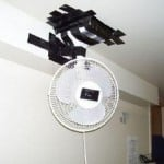funny electrical fan installation