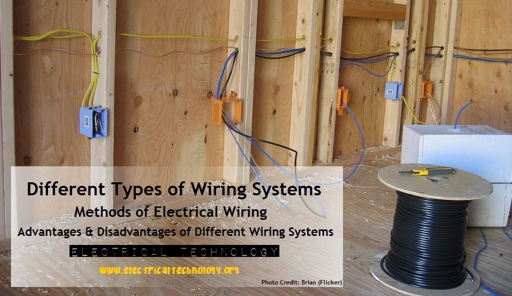types of wiring systems and methods of electrical wiring rh electricaltechnology org Home Electrical Installation Residential Electrical Wiring Diagrams
