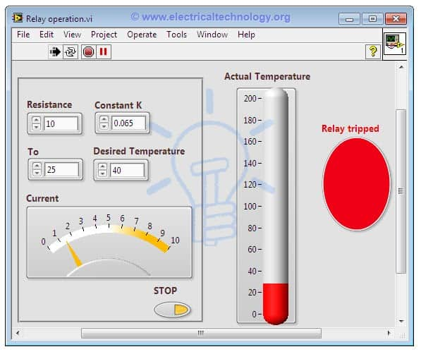 Thermal Overload Relay Using LabVIEW