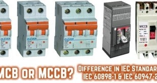 MCB or MCCB Difference in IEC Standards IEC 60898 1 IEC 60947 2 310x165 single phase & three phase wiring diagrams schneider mccb motorized wiring diagram at couponss.co