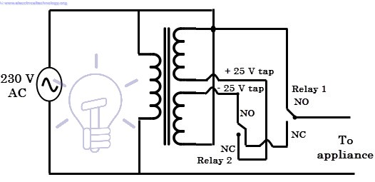 servo stabilizer wiring diagram
