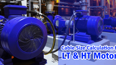 Photo of Cable Size Calculation for LT & HT Motors