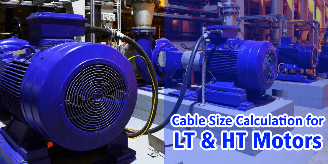 Cable Size Calculation for LT & HT Motors