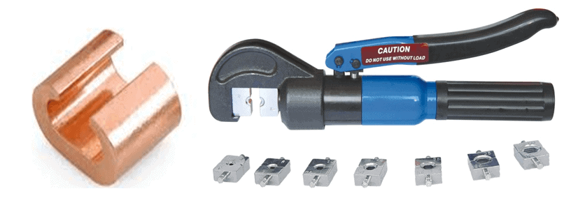 C connector and crimping tool