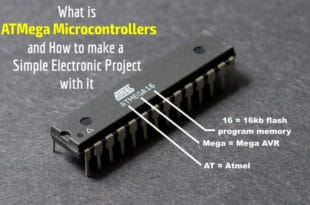 What is ATMega Atmel AVR Microcontrollers and how to make a simple electronic project with it