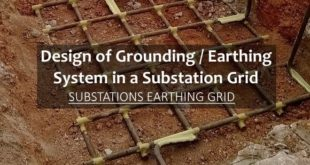 Design of Grounding / Earthing System in a Substation Grid