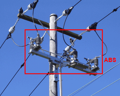 Disconnecting-switch in overhead line