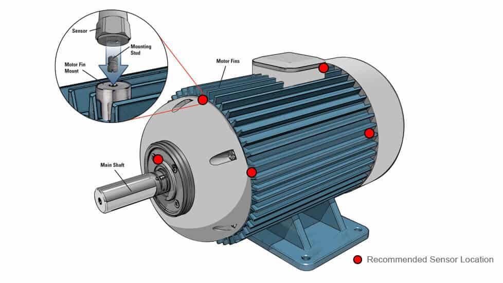 Motor vibration sensors