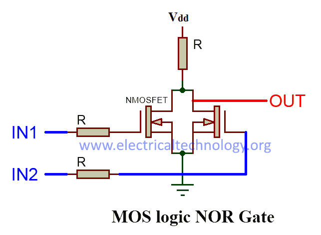 MOS LOGIC NOR Gate