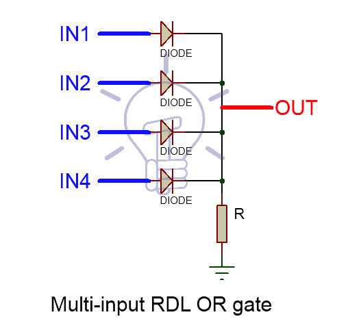 Multi-Input Resistor-diode logic OR GATE