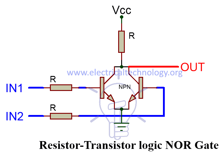 RESISTOR-TRANSISTOR LOGIC NOR Gate
