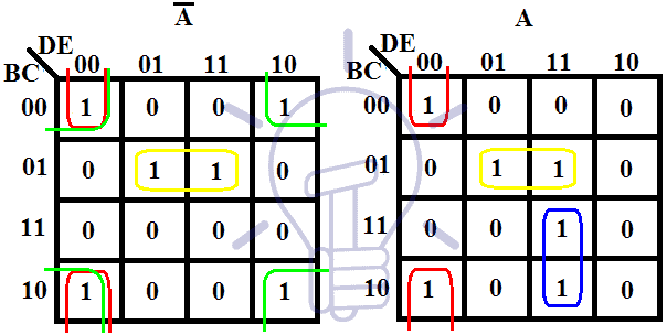 5 variables K-map Truth table and simplification